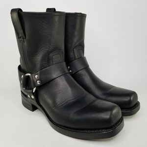 Frye Harness 8R Engineer Leather Boots 10.5 Black